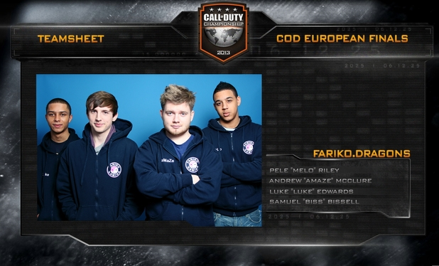Call of Duty Championship UK team