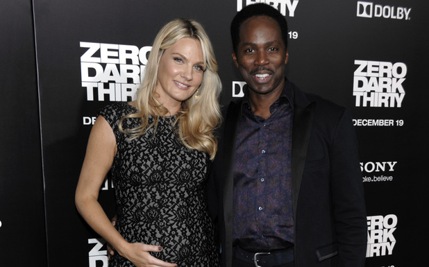 Harold Perrineau with his wife Brittany
