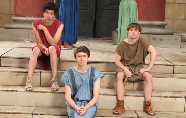 Plebs - Doon Mackichan, Sophie Colquhoun, Joel Fry, Tom Rosenthal and Ryan Sampson