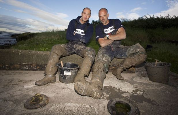 Johnny Vaughan and Steve Brooker in the new series of 'Mud Men'