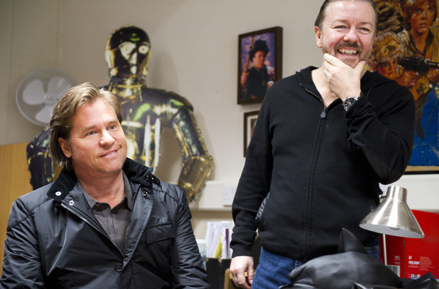 Val Kilmer & Ricky Gervais behind the scenes on 'Life's Too Short'