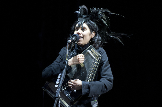 PJ Harvey performing at Bestival 2011