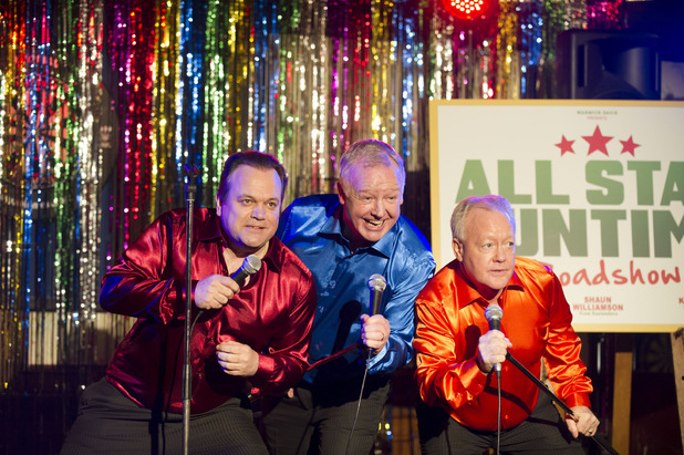Shaun Williamson, Les Dennis, Keith Chegwin in 'Life's Too Short'