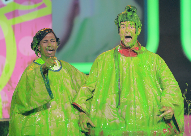 Josh Duhamel, Nick Cannon at Nickelodeon Kids' Choice Awards 2013