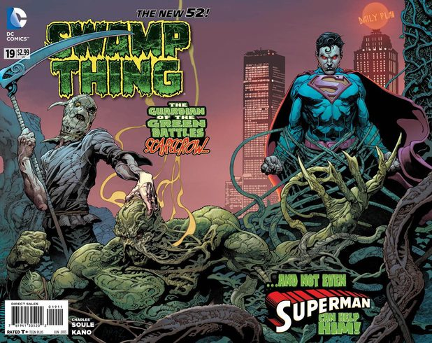 Andy Brase's cover design for Swamp Thing #19