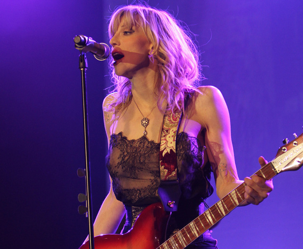 Courtney Love performing live