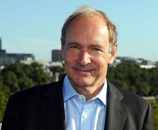 Web Inventor Sir Tim Berners-Lee at the launch of the World Wide Web Foundation Web Index at the National Theatre in Central London.