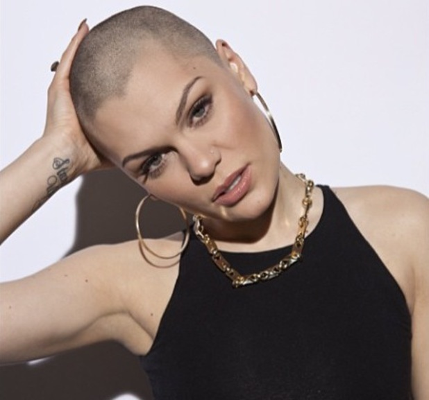 Jessie J's new bald look following her Comic Relief challenge