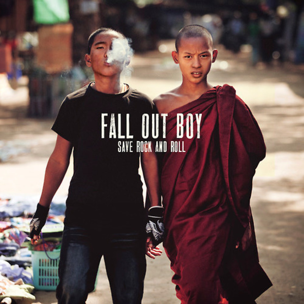 Fall Out Boy &#39;Save Rock and Roll&#39; album artwork.
