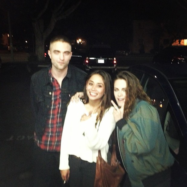 Robert Pattinson and Kristen Stewart with journalist Laura Austin's friend Lany Morrison
