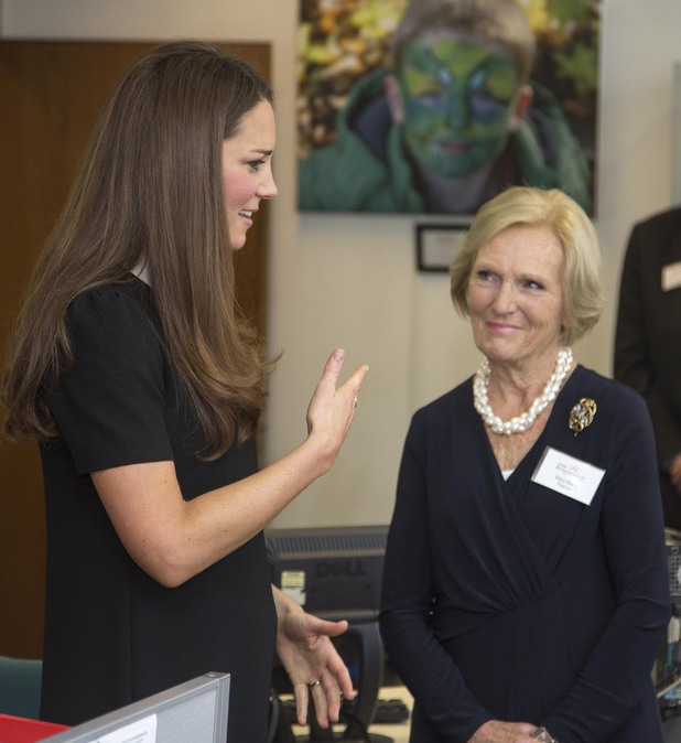 Duchess of Cambridge, Mary Berry, headquarters of the charity CBUK, Child Bereavement UK at Saunderton Buckinghamshire