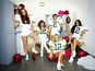 The Saturdays as American footballers