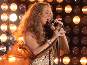 Mariah Carey during the 2012 NFL Kick-Off concert