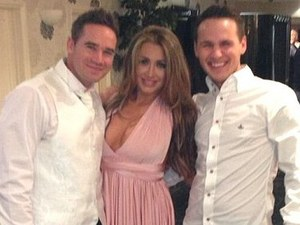 Lauren Goodger with Keiron Hayler.