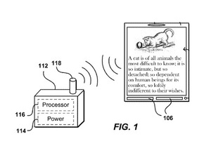 Amazon's battery-less eReader patent