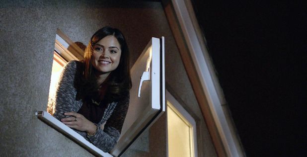 Clara (Jenna-Louise Coleman) in Doctor Who: 'The Bells of St John'