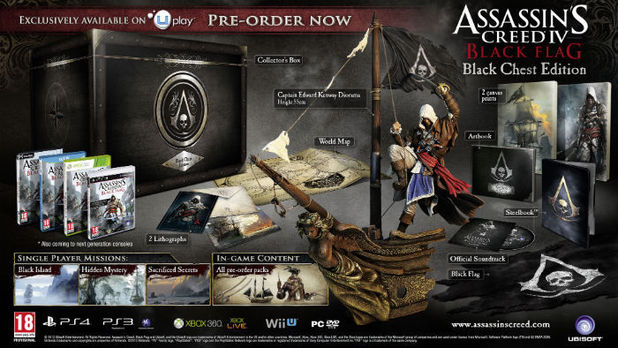 Assassin's Creed 4 Black Flag Black Chest Collector's Edition