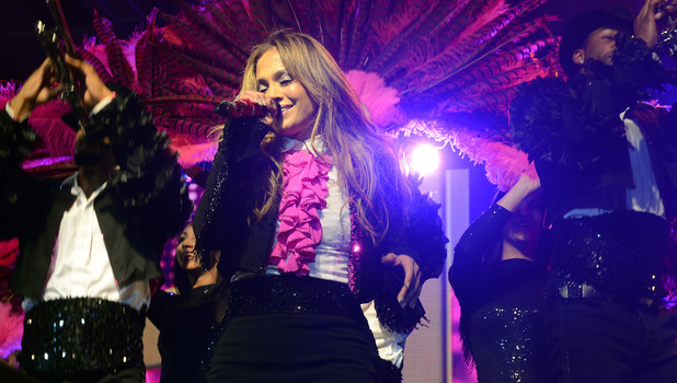 Jennifer Lopez performing at Celebrity Fight Night XIX