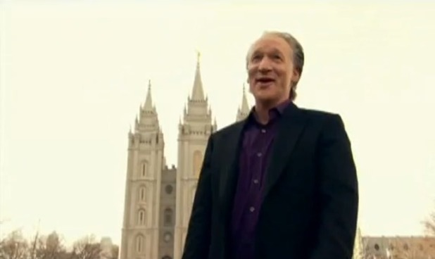 Bill Maher at Mormon Temple in 'Religulous'