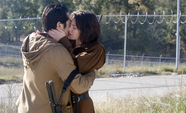 Glenn (Steven Yeun) proposes to Maggie Greene (Lauren Cohan) in The Walking Dead S03E15: 'This Sorrowful Life'