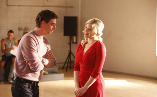 Christian Borle as Tom Levitt, Megan Hilty as Ivy Lynn in Smash S02E08: 'The Bells and Whistles'