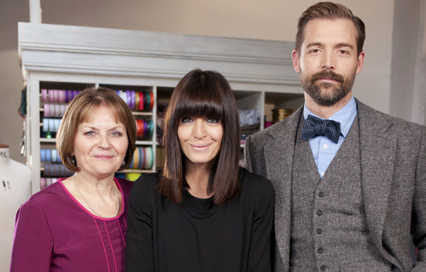 Claudia Winkleman, May Martin, Patrick Grant on 'The Great British Sewing Bee