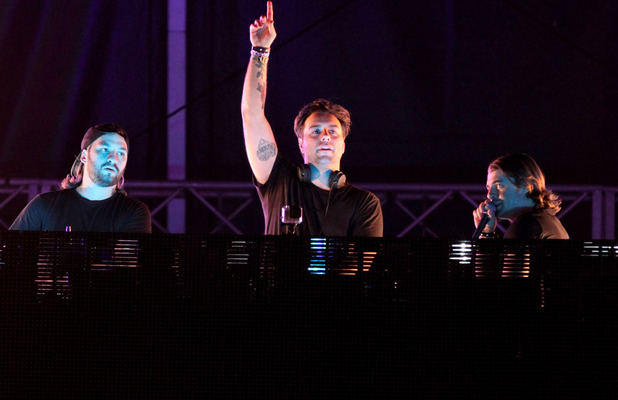 Swedish House Mafia performing at Ultra Music Festival 2013