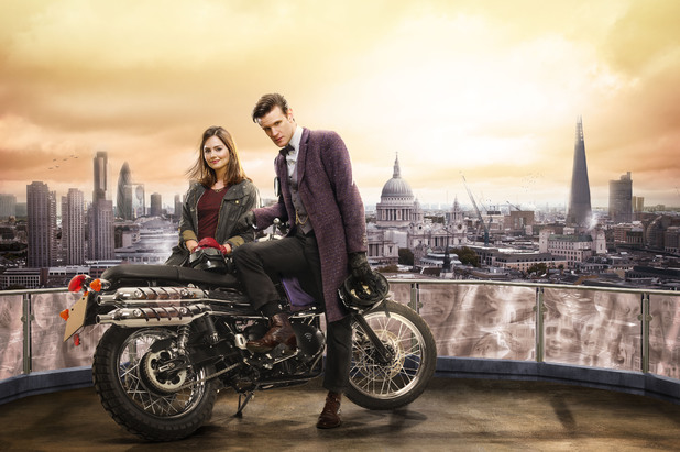 'Doctor Who' promo image - Matt Smith and Jenna-Louise Coleman in 'The Bells of Saint John'