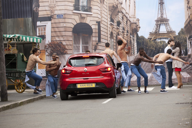 Clip from new Renault Clio viral ad