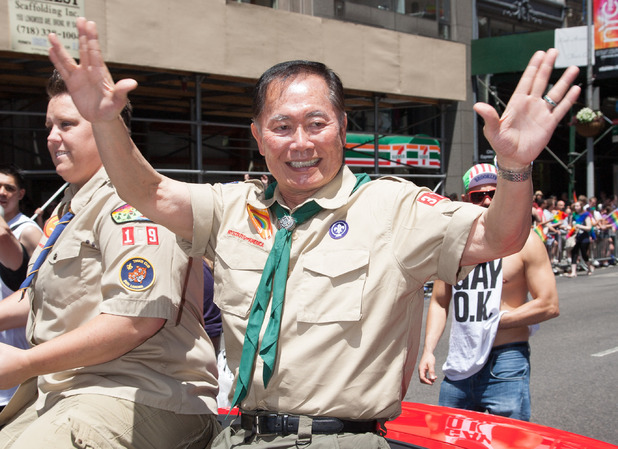 George Takei, boy scout, 43rd Annual Gay Pride Parade, New York
