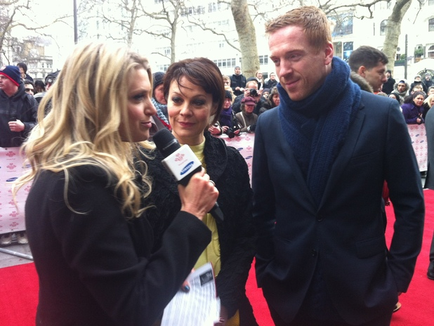Anna Williamson with Helen McCrory and Damian Lewis.