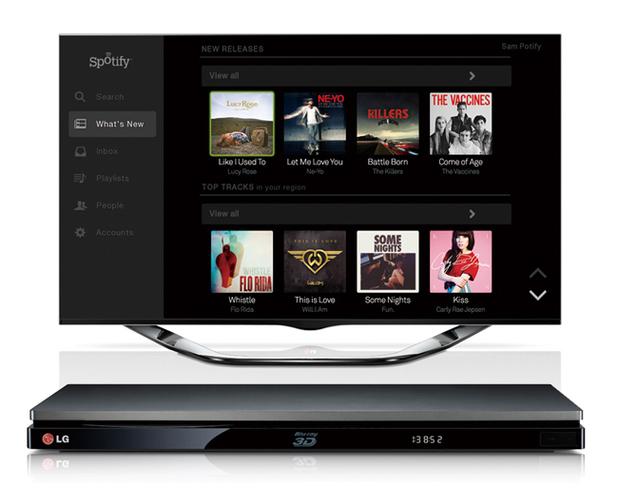 Spotify running on LG hardware
