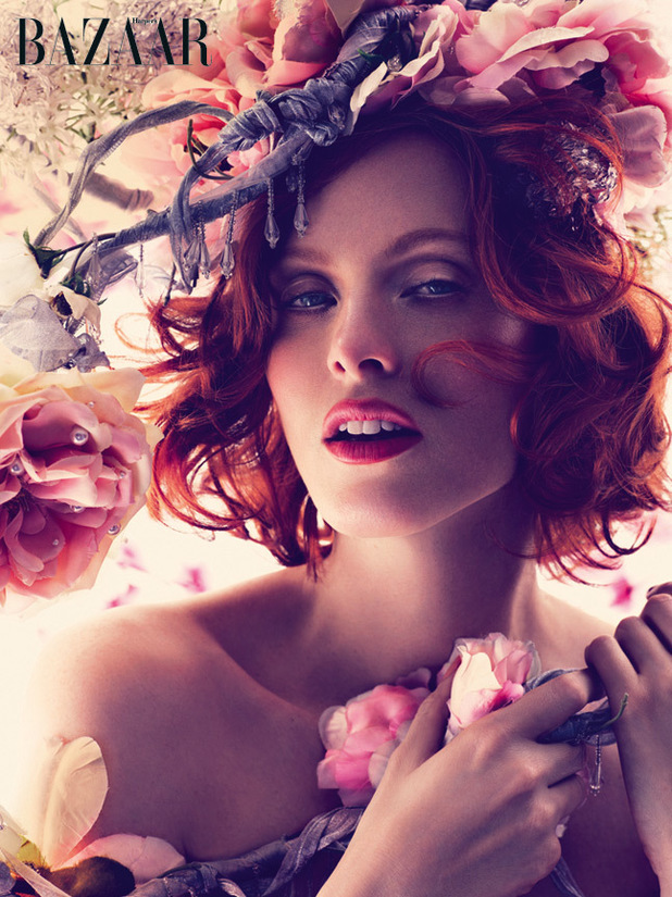 Karen Elson photo shoot for Harper's Bazaar