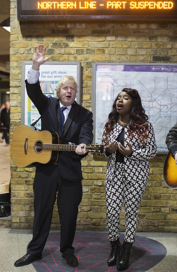 Boris Johnson, Misha B, Gigs 2013, busking competition on the London Underground