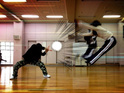 Japanese teenagers pictured recreating Kamehameha from manga series.