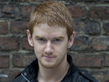 "Gary Windass actor doesn't enjoy filming ""mushy"" scenes."