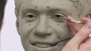 1D's Niall Horan's clay head is sculpted for Madame Tussauds