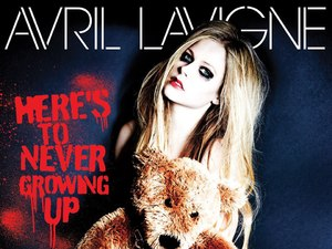 Avril Lavigne 'Here's To Never Growing Up' artwork
