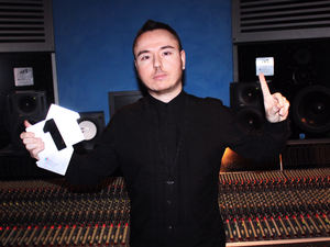 Duke Dumont with his Number One award.