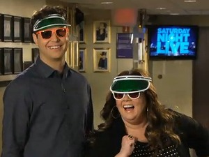 Melissa McCarthy and Taran Killam in 'SNL'