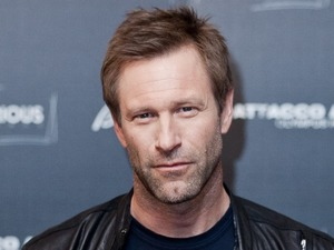 Aaron Eckhart attends the 'Olympus Has Fallen' photocall in Rome.
