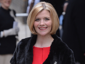 Jane Danson at the wedding of Helen Worth and Trevor Dawson.