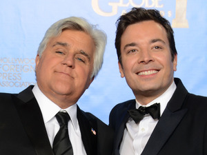 Jay Leno and Jimmy Fallon -- 70th Golden Globes, January 13, 2013