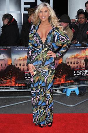 Frankie Essex, Olympus Has Fallen premiere, BFI IMAX