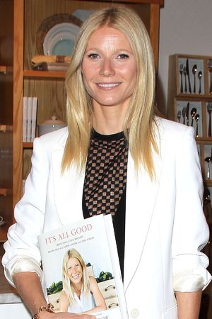 Gwyneth Paltrow signs copies of her book 'It's All Good' in Los Angeles.