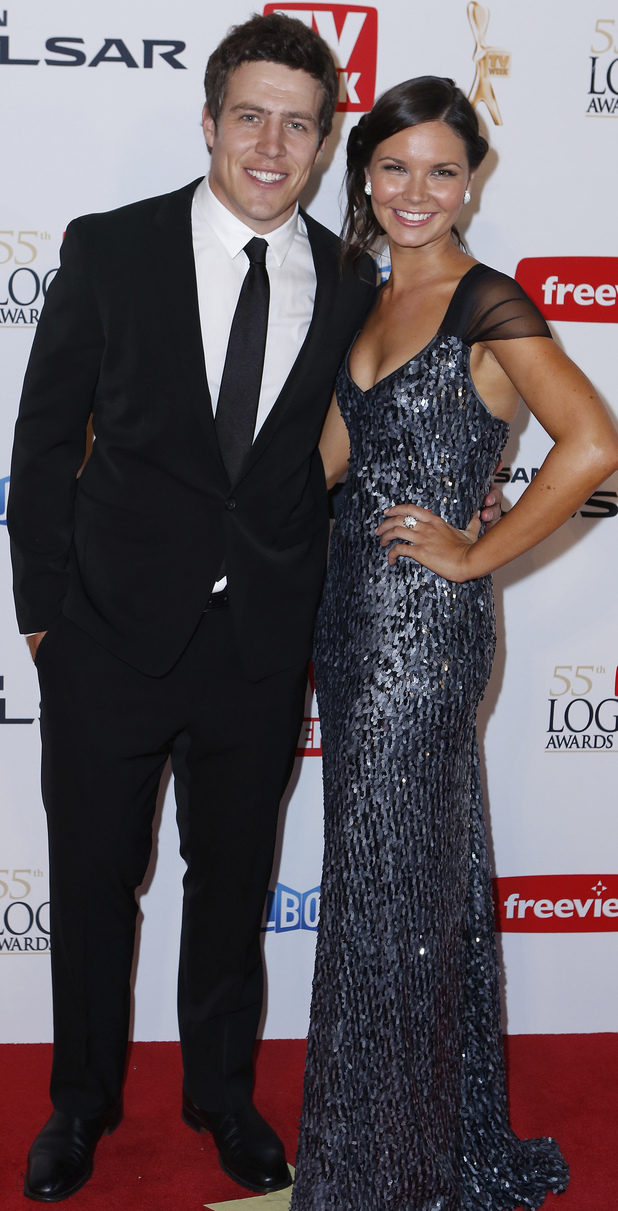 Logies 2013: Stephen Peacocke from Home and Away and girlfriend Bridgette Sneddon