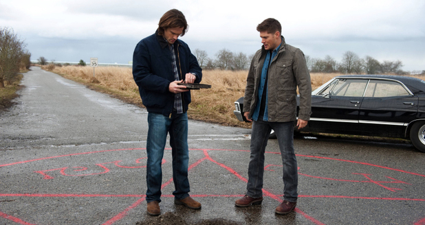 Jared Padalecki as Sam and Jensen Ackles as Dean in Supernatural S08E19: 'Taxi Driver'