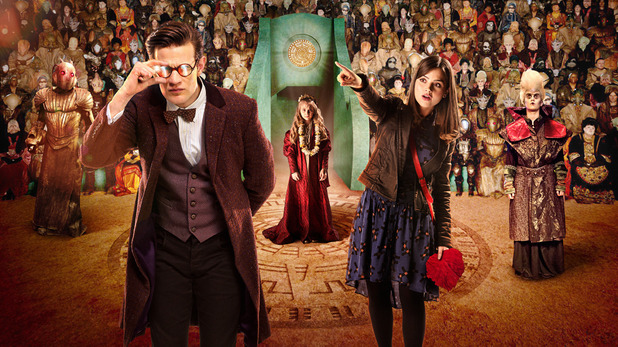 The Doctor (Matt Smith) & Clara (Jenna-Louise Colman) in Doctor Who S07E02: 'The Rings of Akhaten'