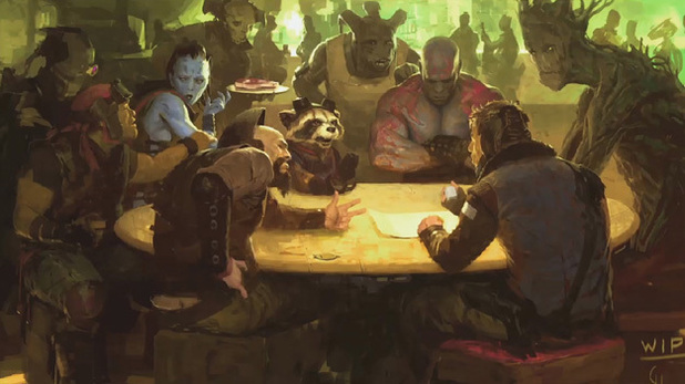 Concept art for 'The Guardians of the Galaxy'