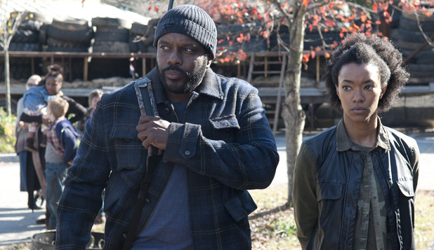 Tyreese (Chad Coleman) and Sasha (Sonequa Martin-Green) in The Walking Dead S03E16: 'Welcome to the Tombs'